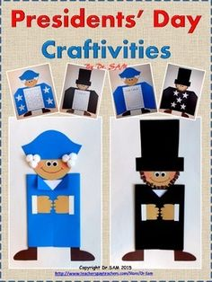 Celebrate Presidents' Day with these 2 versatile craftivities! Whether your students are strong writers or just beginners, they can all participate and enjoy making the crafts and writing about our 2 great presidents.