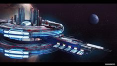 Space Station, Warhammer 40k, Objects, Explore, Spaceships, Artwork, Sci Fi, Base, Future