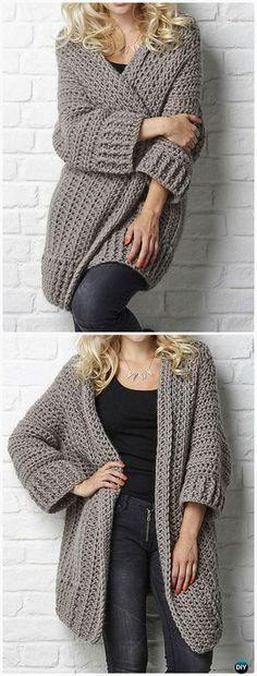 Crochet Big Chill cardigan Pattern - #Crochet Women Sweater Coat-Cardigan Free Patterns