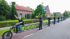 Mijl Van Mares Werkploeg's bike stretches to 117 feet, 5 inches, which is almost as long as half a New York City block