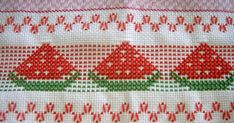 Cross Stitch Borders, Cross Stitch Patterns, Crochet Patterns, Embroidery Stitches, Hand Embroidery, Embroidery Designs, Bordado Tipo Chicken Scratch, Swedish Weaving Patterns, Swedish Embroidery