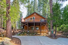 Bears' Den, a newly build duplex home in Yosemite West, has 3 bedrooms and 2 bathrooms on its upper floor.