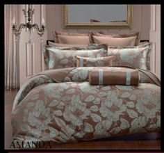 Fine Bed Linens Luxury Queen King Duvet Cover Sets by Royal Hotel Collection