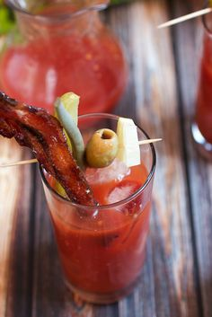 Candied Bacon Bourbon Bloody Mary #SundaySupper | The Girl in the Little Red Kitchen