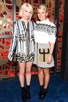All of the best looks from last night's Art Basel parties: Michelle Williams and Kate Young