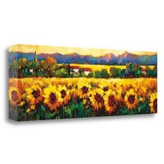 Tangletown Fine Art 'Sweeping Fields of Sunflowers' by Nancy OToole Graphic Art on Wrapped Canvas
