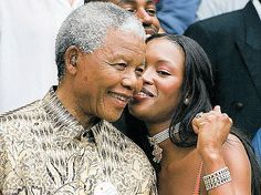 From her granddad to her fans: She went on to quote late South African president Nelson Mandela, who dubbed her an 'honarary granddaughter, as she added: 'Mandela Quote : We must use time wisely and forever realize that the time is always ripe to do right'