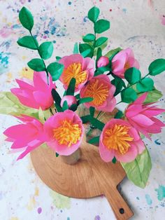 Paper Flower DIY by Kelsey for Design*Sponge  - Learn how to make a lovely paper flower bouquet #paper flowers #bouquet #diy