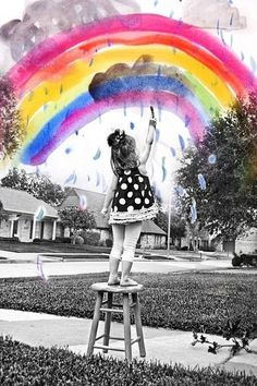 Photoshop a piece of your child's art work into the background of a picture