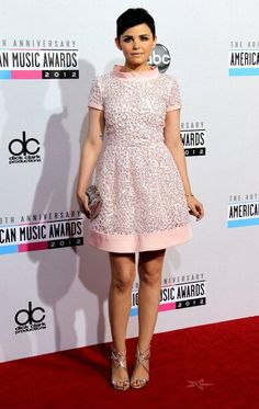 Ginnifer Goodwin at AMA 2012. This is a cute dress too. :) Oh my! I like it! I think a cute pink pump shoes will be great with this dress.