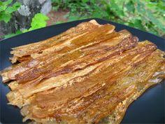 "Dehydrator ""bacon"" (eggplant) PLUS a lot of cool dehydrator recipes!"