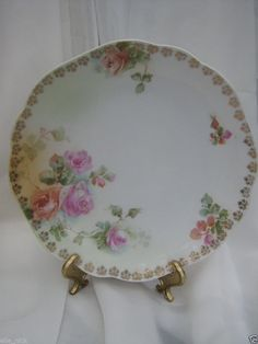 """SALE CHINA VINTAGE COLLECTABLE SELESIA PLATE 7 3/4""""  ROSES SHABBY CHIC #SELESIA"""