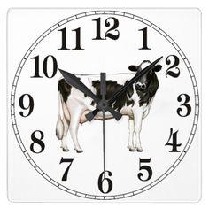 De Koe van Holstein Ronde Klok Large