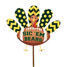 Baylor Turkey Stake by The Round Top Collection GF200-BU