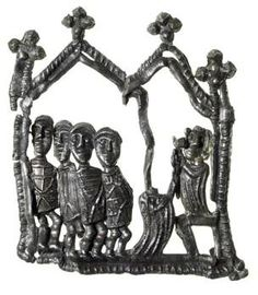 Pilgrim badge depicting the execution of the Archbishop, Thomas Becket, in Canterbury Cathedral by the four knights Reginald Fitzurse, Richard le Bret, Hugh de Moreville and William de Tracy in From site Medieval, Canterbury Cathedral, London History, London Museums, History Museum, Pilgrimage, Family History, Google Images, Knight