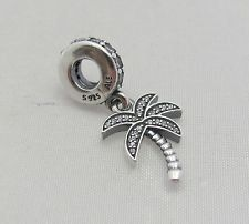 New 2015 Silver Dangle Sparkling Palm Tree Clear CZ Bead..Pandora Compatible by SHOPBEADSANDBRACELET on Etsy