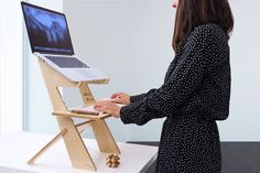 Standing Desk, stand up desk, laptop stand, Birch, Made in the USA, Macbook, Laptop stand by rldh on Etsy https://www.etsy.com/listing/481759207/standing-desk-stand-up-desk-laptop-stand
