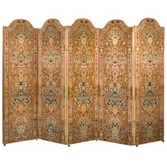 French Napoleon III needlework five panel screen | From a unique collection of antique and modern screens at http://www.1stdibs.com/furniture/more-furniture-collectibles/screens/