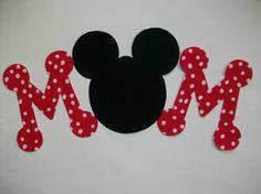 MOM -  DIY No-Sew - Minnie/Mickey Mouse Applique - Iron On. $5.50, via Etsy.