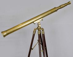 Antique Ross of London Brass Telescope and Stand.