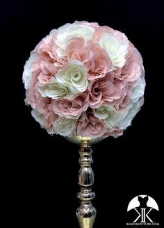 BLUSH Flower Ball Centerpiece, Blush Centerpiece, Red Centerpieces, Mickey Centerpiece, Crown Centerpiece, Hot Pink Weddings, Aqua Wedding, Wedding Flowers, Rainbow Wedding