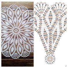 No photo description available. Crochet Tablecloth Pattern, Free Crochet Doily Patterns, Crochet Shoes Pattern, Crochet Placemats, Crochet Stitches Free, Crochet Doily Diagram, Crochet Bedspread, Crochet Mandala, Crochet Chart