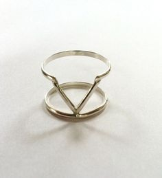 {Venus Double Ring} sterling silver; unique design