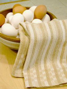 Kitchen,Towel,Tan,Stripes,Handwoven,kitchen towel tan, handwoven tea towel, dish towel, kitchen towel, tan towel, handweaving, guest towel, ...: