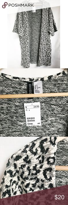 🆕 H&M Spotted Cardigan This spotted cardigan is an instant winner! Brand: H&M Size: Small Details: Short Sleeve, Drapey Fit, Spotted Print. Content: 69% Cotton, 31% Poly. Condition: New With Tags H&M Sweaters Cardigans