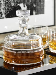 Decanter - what a majestic piece from Ralph Lauren, handblown lead crystal and Art-Deco inspired look