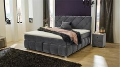 White Metal Bed, Metal Beds, Velvet, Couch, Interior, Furniture, Home Decor, Spiegel Online, Products