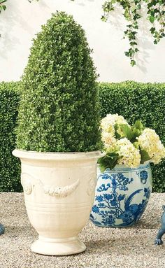Shop planters from Frontgate. Garden Oasis, Lawn And Garden, Decorative Accessories, Planters, Backyard, Outdoor Decor, Gardening, Patio, Backyards