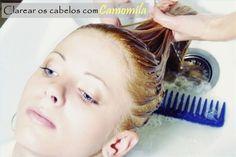 Como clarear os cabelos com camomila