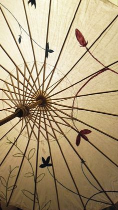 Chinese Traditional Paper Parasol Umbrella http://www.interactchina.com/carving-art/