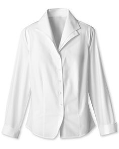 Coldwater Creek - double collar crisp white shirt    I want something like this so badly..