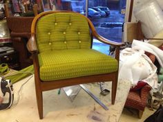 Thanks to Ray Clarke Upholstery, London E3 3RB, for this wonderfully restored chair in Ramshead, we love it!