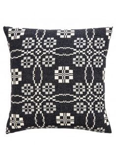 FFOREST BLANKET CUSHIONS Charcoal coldatnight Welsh Wool