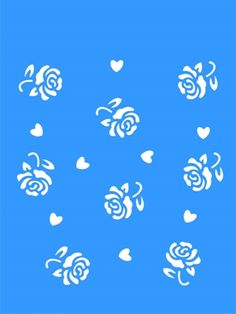 Stencil Estamparia Rosas 15x20 - OPA Diy Leather Bracelet, Diy And Crafts, Paper Crafts, Baby Flower, Stencil Patterns, Stained Glass Patterns, Pictures To Paint, Textures Patterns, Silhouette Projects