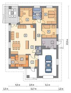 Small House Floor Plans, Modern House Plans, Building Design, Building A House, 4 Bedroom House Plans, Facade House, My House, House Design, Flooring