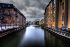Industrial heritage, the Industrial Landscape of Norrköping. Today Campus Norrköping (Linköping University), Sweden