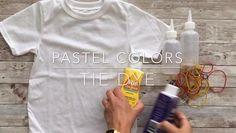 Tie Dye Fashion, Look Fashion, Tie Dye T Shirts, Diy Tie Dye Tops, Pastel Tie Dye, How To Tie Dye, How To Make Diy, Shirt Tutorial, Diy Tie Dye Tutorial