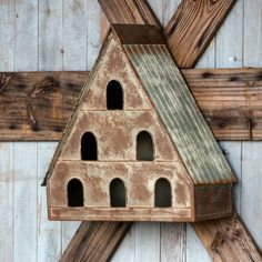 Use our Decorative Metal Dovecote Birdhouse to fill an empty wall or as some wonderful garden decor. Visit Antique Farmhouse for more birdhouses! Antique Farmhouse, Farmhouse Style, Farmhouse Decor, Decorative Bird Houses, Decorative Metal, Decorative Items, Birdhouse Designs, Birdhouse Ideas, Bird House Kits