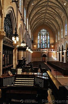 1928 Welte; 1964 Moller; 1983 Gould & Sons organ at Episcopal Cathedral of St. Mark, Minneapolis, Minnesota