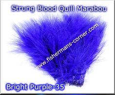 Strung Blood Quill Marabou