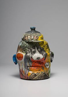 Michael Lucero, Ceramic Jug Head - Cowan's Auctions