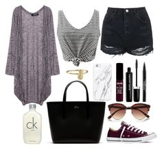 """""""Geen titel #170"""" by anoukvos ❤ liked on Polyvore featuring Topshop, Lacoste, Converse, NYX, Marc Jacobs, Trish McEvoy, River Island and Calvin Klein"""