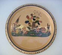 Large Tlaquepaque charger with detailed graphics!  Very nice!