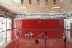 Multipurpose space at Playa Vista Elementary School from NAC|Architecture