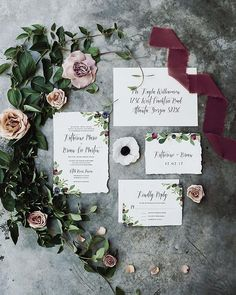 Berry bohemian invitation suite from @thebrumbynest