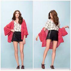 https://flic.kr/p/soAvTV | Second round  #semprecirculo #handmade #karinfeller #kimono #cardigan #knitwear #knit #strikk #strick #stricken #tricot #trico #love #pink #design #lookbook #style #fashion #moda #casaco #boho #work